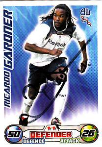 Bolton-Wanderers-F-C-Ricardo-Gardner-Hand-Signed-08-09-Championship-Match-Attax