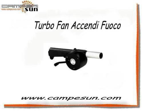 TURBO VENTOLA ACCENDIFUOCO X BARBECUE CAMPEGGIO CAMPER CAS