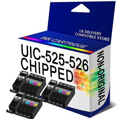 15 CLI526 PGI525 Ink Cartridge Replace for Pixma Printer Black + Colours