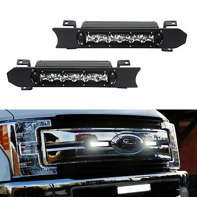 Pair 30W LED Light Bars w// Brackets For 17-up Ford F250 F350