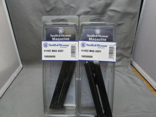 TWO Smith /& Wesson Model 41 Magazine 422 622 2206 22lr 10 Rd S/&W 41 clip 22 mag