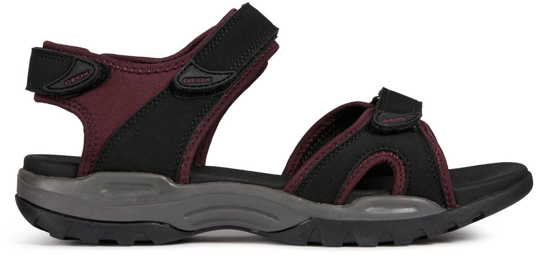 GEOX Damen klassische Sandale Schwarz