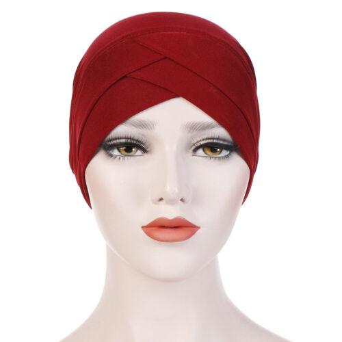 Women Muslim Hijab Cotton Stretchy Hat Turban Head Wrap Chemo Bandana Scarf Cap