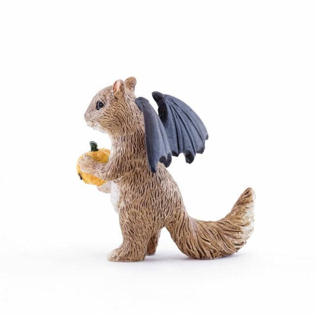 Halloween Squirrel with Bat Wings for Miniature Garden Fairy Garden