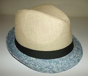 526e60efb05 NEW MEN S DANIEL CREMIEUX STRAW FEDORA HAT NATURAL WITH GREY BAND ...