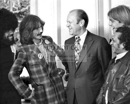 DA984 BILLY PRESTON /& RAVI SHANKAR  8X10 PHOTO GERALD FORD w// GEORGE HARRISON