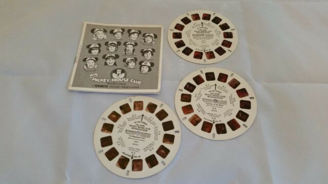 Vintage View Master 3 Reels/booklet THE NEW MICKEY MOUSE CLUB. Excellent!