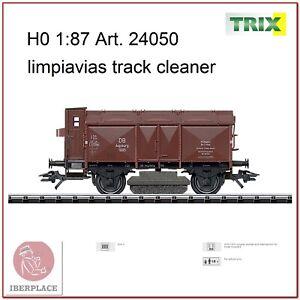 H0-escala-1-87-ho-maqueta-trenes-model-vagon-Trix-24050-limpiavias-track-cleaner