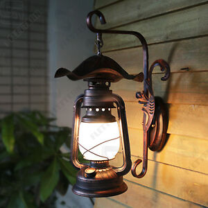 Details About Hand Made Art Lantern Antique Iron Wall Lamps Garden Lights Outdoor Lighting