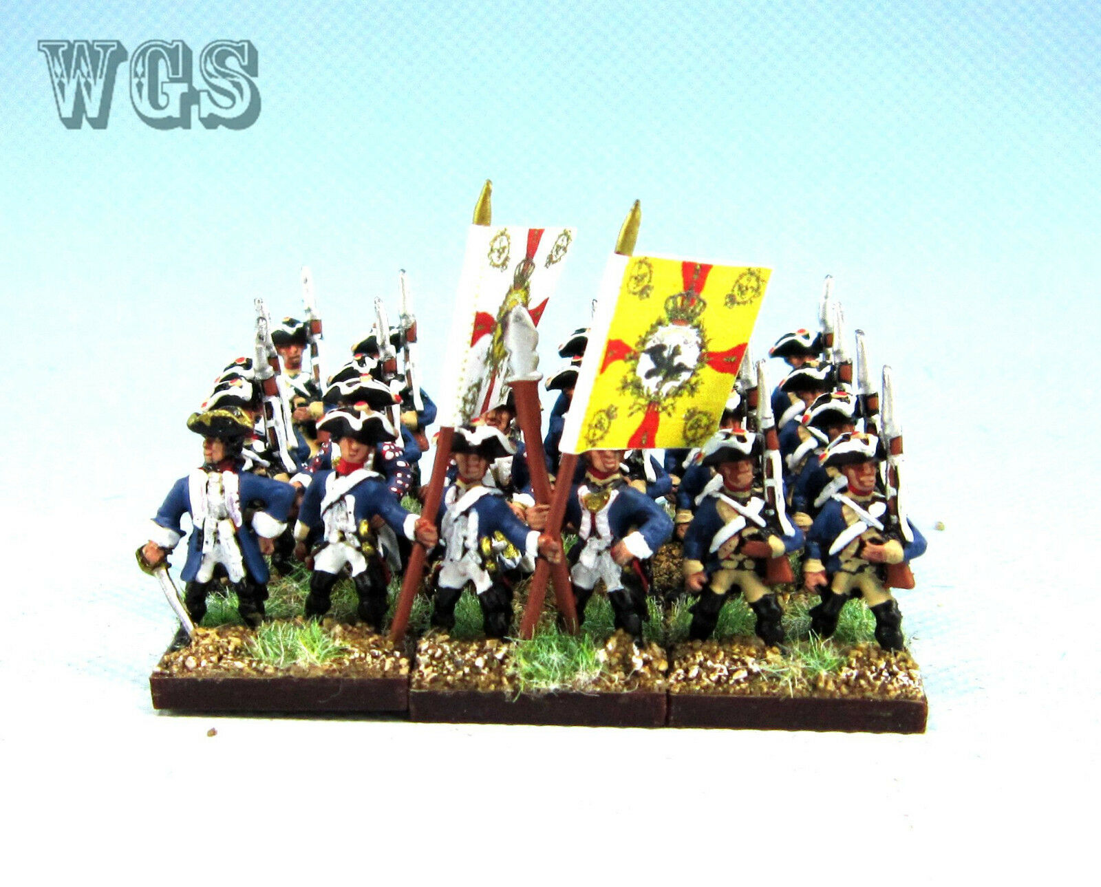 15mm SYW Seven Years War WGS painted Prussian Musketeer Btln Pa16