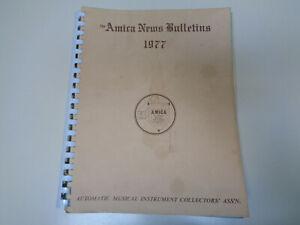 Amica Bulletin 1977 Automatique Instrument Musical Collectors Association-afficher Le Titre D'origine Soulager La Chaleur Et Le Soleil