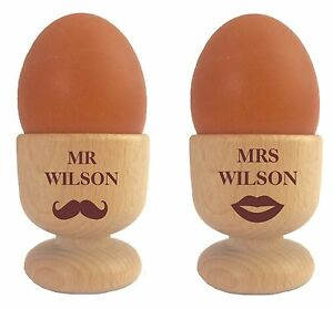 Image Is Loading Personalised Mr Amp Mrs Egg Cups Set Of