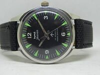 *17.J PARA SHOCK HMT GAWAN BLACK COLOR NICE DIAL STYLISH FIGURE HAND WINDING
