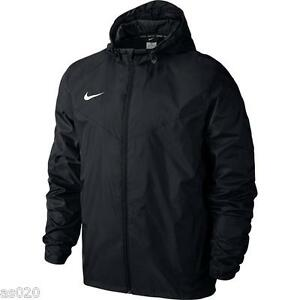 Nike Team Sideline Youth Junior Boys Unisex Rain Jacket Coat - Black ... 8fd46bb2e