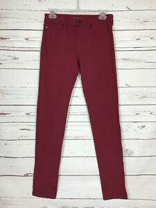 LIVERPOOL-Stitch-Fix-Exclusive-Burgundy-Denim-Jeans-Pants-Women-039-s-Size-2-26-98