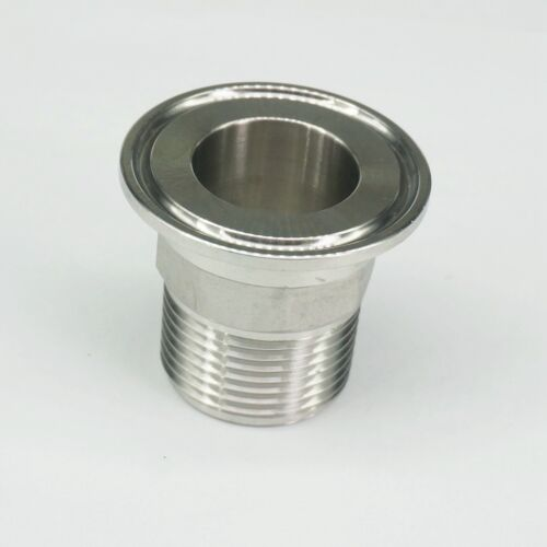"""1/"""" BSPT Male 1.5/"""" Tri Clamp SUS304 Sanitary Fitting Hex Nut Connector Homebrew"""