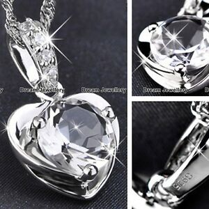 Silver-Love-Heart-Necklace-Pendant-Birthday-Gifts-for-Her-Girlfriend-Wife-Mum-GF