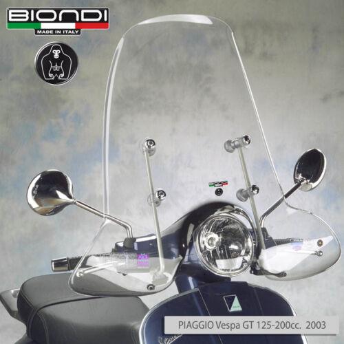 Parabrezza BIONDI con attacchi WINDSCREEN VESPA GTS 250 2005 2006 2007 2008
