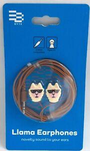Byte-Headphone-Llama-Novelty-Earphones