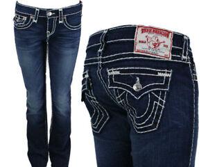 True Religion Jeans Para Mujer Billy Super T Gridiron Lavado Azul Oscuro 10572nbt2 Ebay