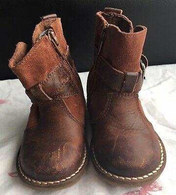 Next Girls Boots UK Infants 4 In Brown