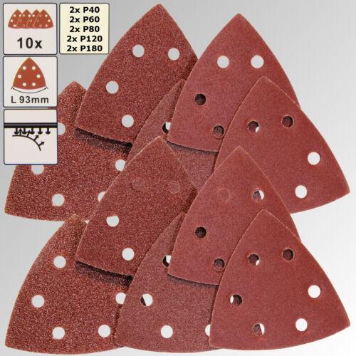 Papier Abrasif ponçeuse à bande triangle Meuleuse haftschleifscheiben Nº 3339