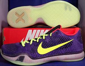 sale retailer 7bfb6 45a69 Image is loading Nike-Kobe-X-10-Elite-Low-Flyknit-iD-