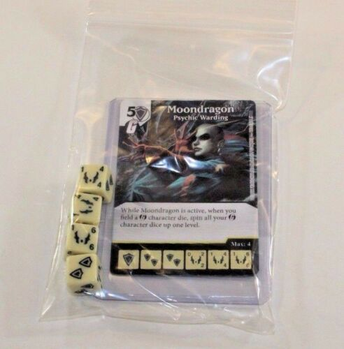 MOONDRAGON RARE Set CUR Marvel Dice Masters Guardians of the Galaxy 4 dice