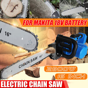 16'' 2800W 720 M/MIN Electric Cordless Chainsaw Chain Saw For Makita 18V Battery