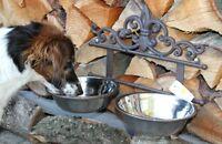 Clayre & Eef Doppelter Hundenapf Katzennapf Metall Zum Aufhängen