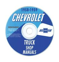 1958-59 Chevy Truck Shop Manual Cd