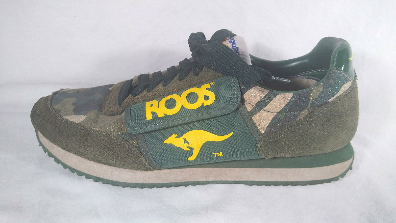 Vintage KangaROOS ROOS Green Camo Camouflage Low Top Womens Size Size Size 8.5 Side Pocket 3b84e6