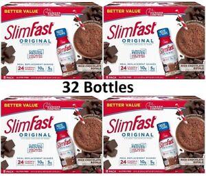 ( 32 Bottles ) SlimFast Original Rich Chocolate Royale Shake, Ready to Drink