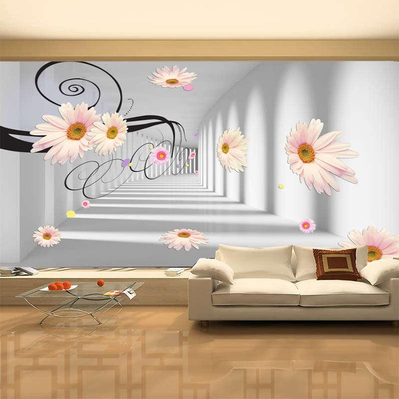 Pure Novel Gardenia 3D Full Wall Mural Photo Wallpaper Printing Home Kids Decor