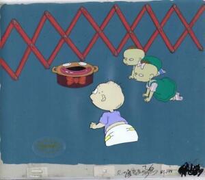 Rugrats Original 1990's Production Cel Animation Art Clown Potty