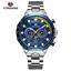 Automatik-Multifunktion-Herren-Uhr-Blau-Silber-Farben-Edelstahl-Armband-Uhren Indexbild 12