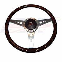 15 Wood Steering Wheel & Adaptor For Mgb 1970-1976 1 Thick Rim