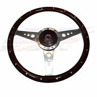 15 Wood Steering Wheel & Adaptor For Mgb 1970-1976 1 Thick Rim