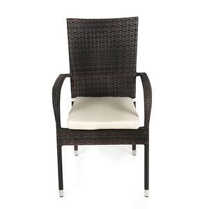 Outdoor Garden Furniture Jersey Rattan Patio Chair Cream White