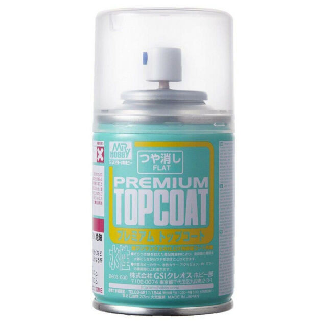 Bandai Gundam Mr. Premium Top Coat Flat Spray 88ml B-603