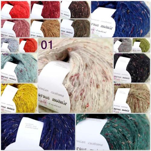 Lot of 1BallX50g Luxury Fluffy Soft MOHAIR Scarf Sweater Hand Knit Crochet Yarn