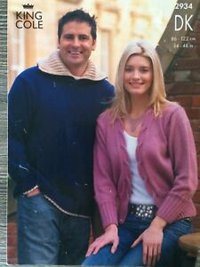 345fc560433 King Cole Knitting Pattern Mens Sweater amp Ladies Cardigan DK 3448034 2934  - Exeter