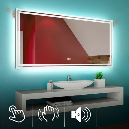 Specchio Del Bagno Con Illuminazione LED Interruttore Altoparlante Bluetooth L57