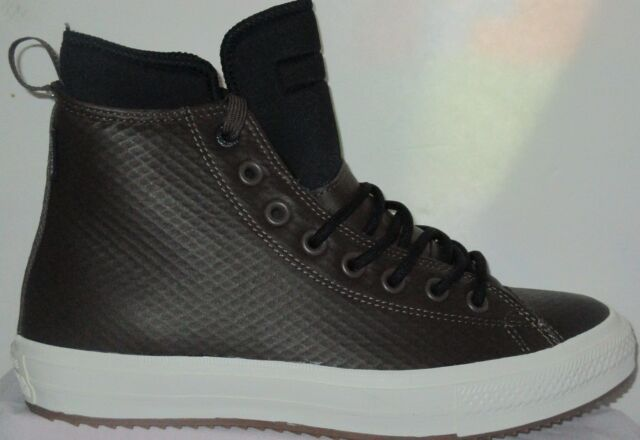 b402397c163215 MEN S CONVERSE ALL STAR BOOT HI ATHLETIC SNEAKERS CHOCOLATE BLACK SHOES 8