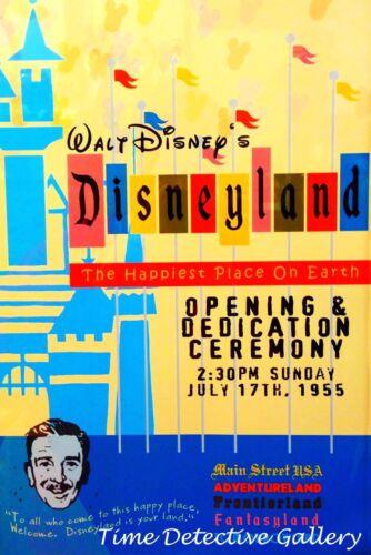 Anaheim 1955 Disneyland Opening Night Giclee Disney Print