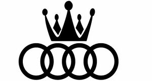 Audi Crown Rings Car Decal Sticker Buy 2 Get 3 Buy 3 Get 5