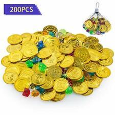 Silber Münze 200pcs Piratenmünzen Piratenschatz Spielzeug Münze Gold