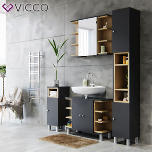 VICCO-Mobilier-salle-de-bain-Meuble-armoire-de-bain-meuble-Armoire-Miroir
