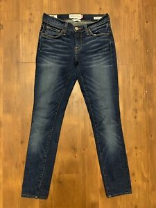 Lucky-Brand-Women-039-s-Brooke-Skinny-Dark-Wash-Jeans-White-Oak-Ankle-Jeans-Sz-00-24