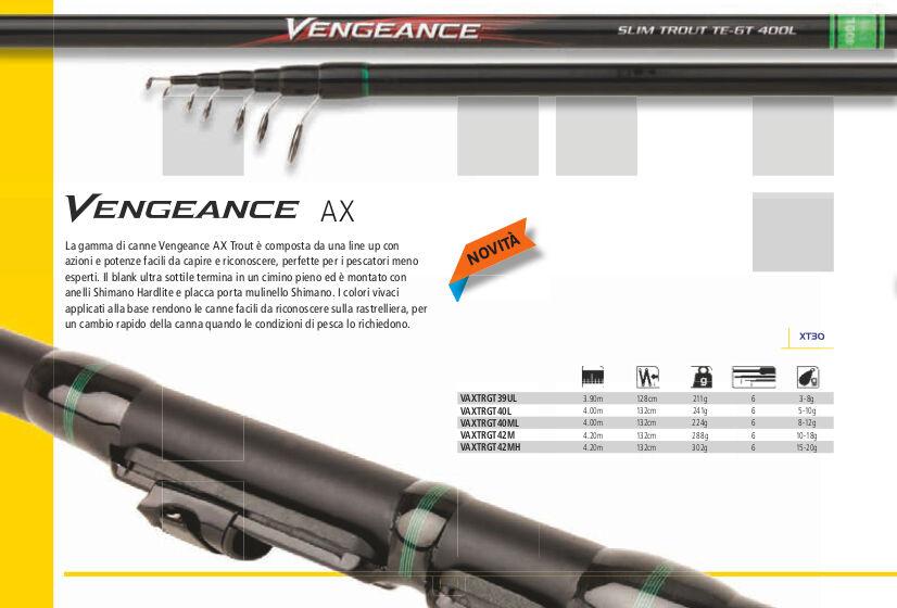 NEW SHIMANO VENGEANCE SLIM  AX AX AX TROTA SPECIALE LAGHETTO mt 4,20 M  AZ  10-18gr d9951a